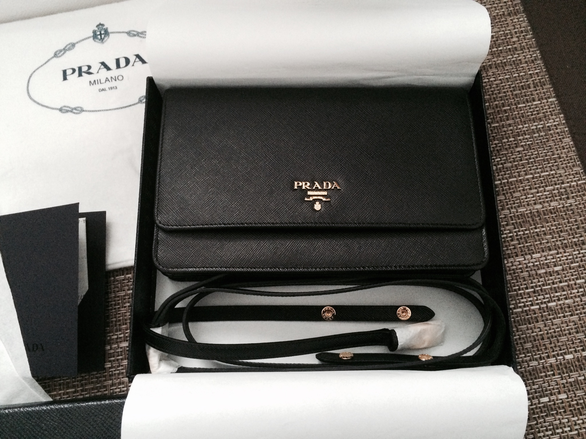 prada purse black leather - prada small leather good